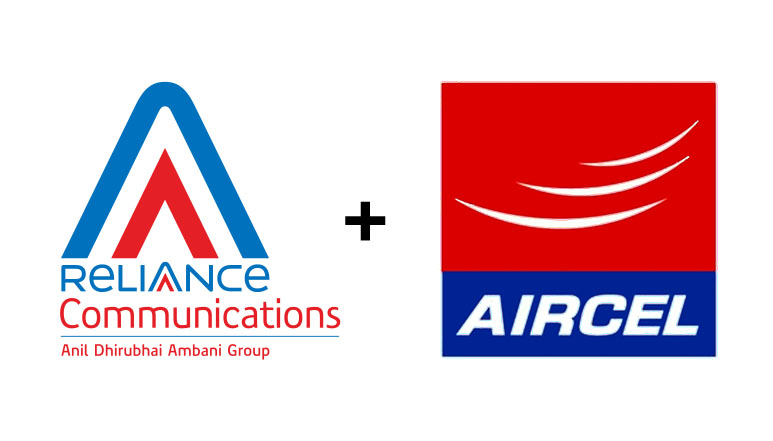 RCom-Aircel merge businesses to create 3rd Largest Telecom Operator with assets over Rs. 65000 crore
