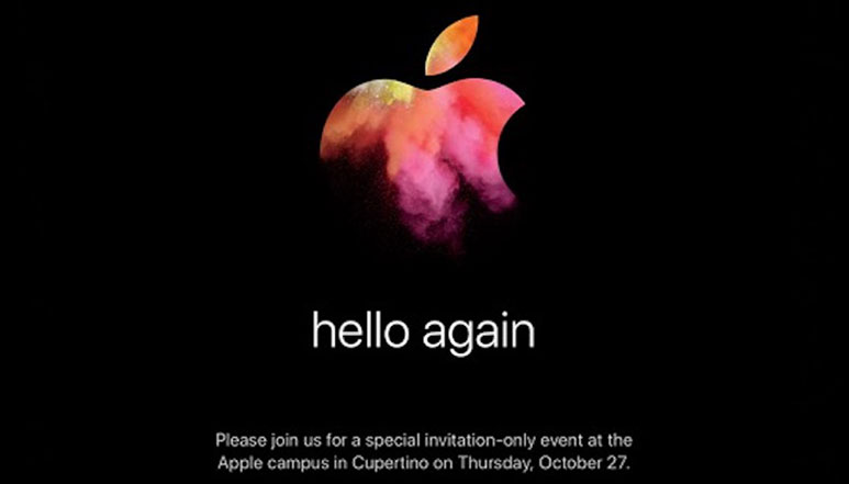 Apple likely to unveil new MacBooks at 'hello again' event on 27th October