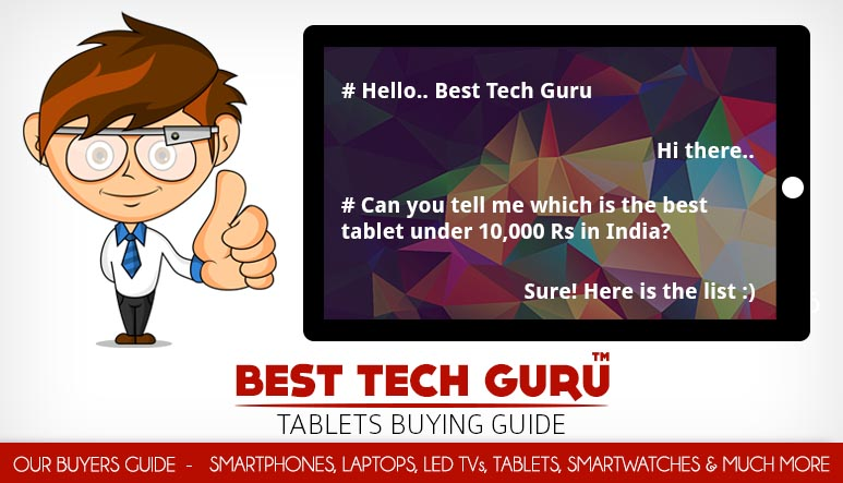 5 Best Tablets under 10000 Rs in India (October 2016)