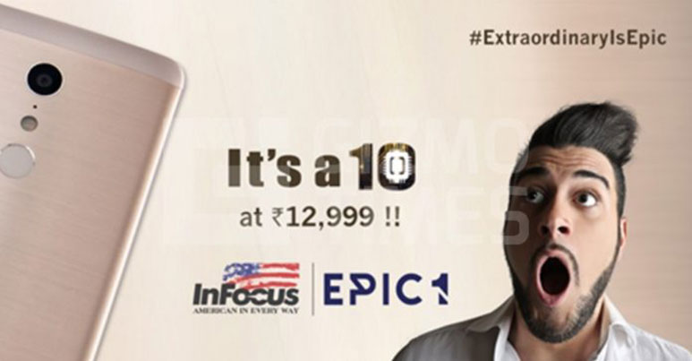 InFcous Epic 1 with Deca-core Helio X20 SoC, 3GB RAM launched in India at Rs. 12,999