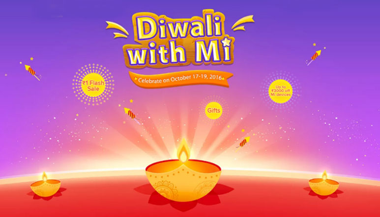 Xiaomi's 'Diwali with Mi' sale kicks off; Re. 1 flash sale from 2 PM everyday