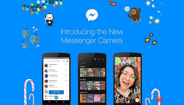 Facebook Messenger Camera updated with Snapchat like 3D Special Effects, Stickers and Masks