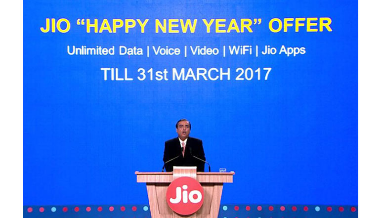 Reliance Jio announces 'Happy New Year' Offer; extends free services till 31st March 2017