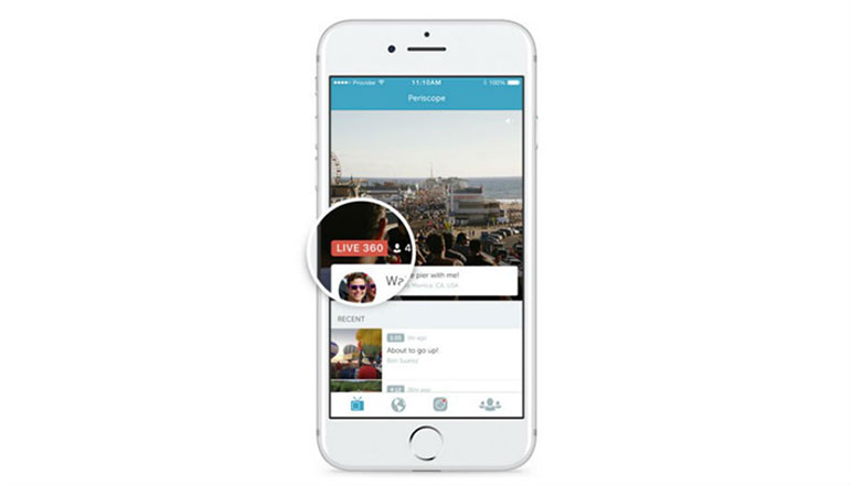 Twitter introduces 360-degree live video streaming on Periscope