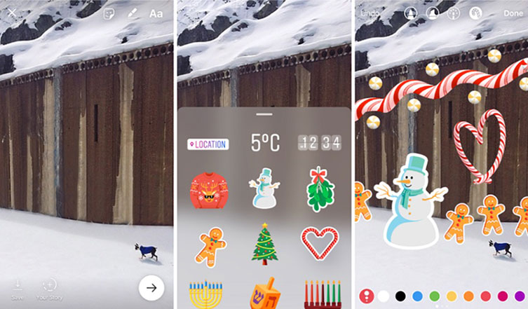 Instagram Stories updated with stickers for posts and hands-free video recording