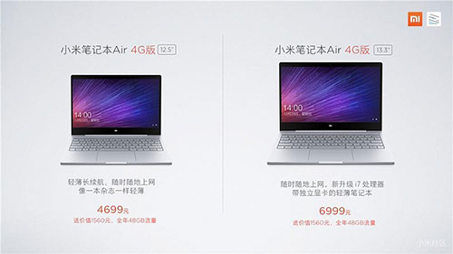 Xiaomi Mi Notebook Air 4G with all-metal body and Windows 10 launched in China