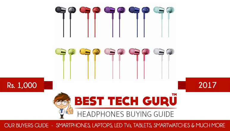 5 Best Headphones under 1000 Rs in India (2017)
