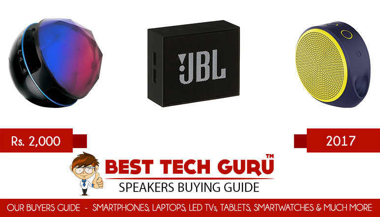 5 Best Portable Speakers under 2000 Rs in India (2017)