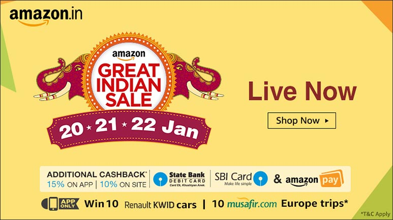 Amazon Great Indian Sale kicks off; Best Deals and Offers on Gadgets for Day 1