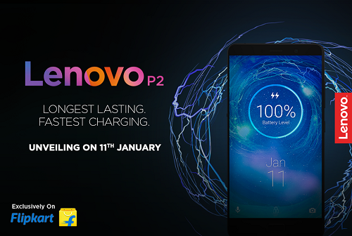 Lenovo P2 with 5100mAh battery set to launch in India on 11th January exclusively on Flipkart