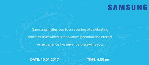 Samsung Gear S3 smartwatch set to launch in India on 10th January