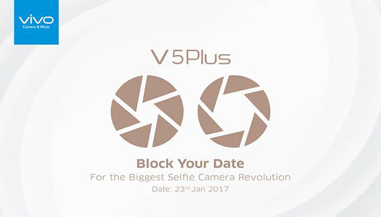 Vivo V5 Plus with dual front cameras set to launch in India on 23rd January
