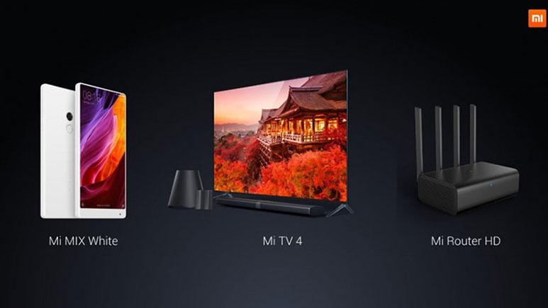 Xiaomi Mi TV 4 with 4.9mm slim frameless design, White Mi MIX, Mi Router HD announced at CES 2017