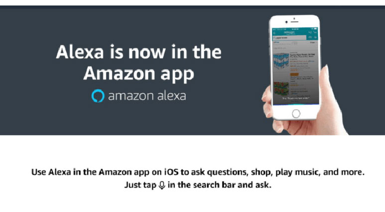 Amazon adds 'Alexa' virtual assistant into its main shopping app for iOS
