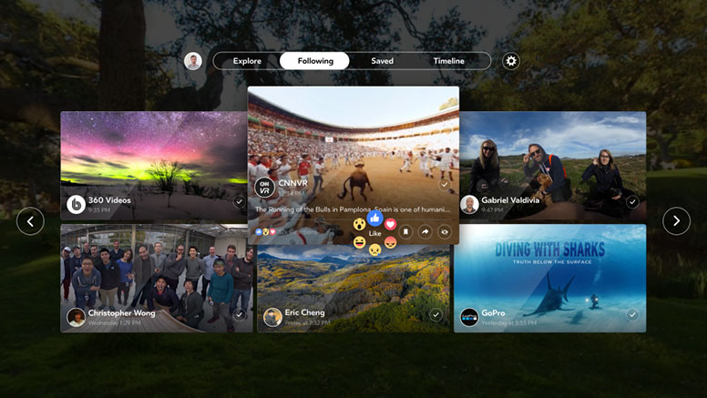 Facebook launches its first VR dedicated app 'Facebook 360' for Gear VR