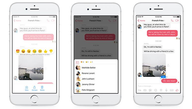 Facebook adds 'Reactions' and 'Mentions' to its Messenger app
