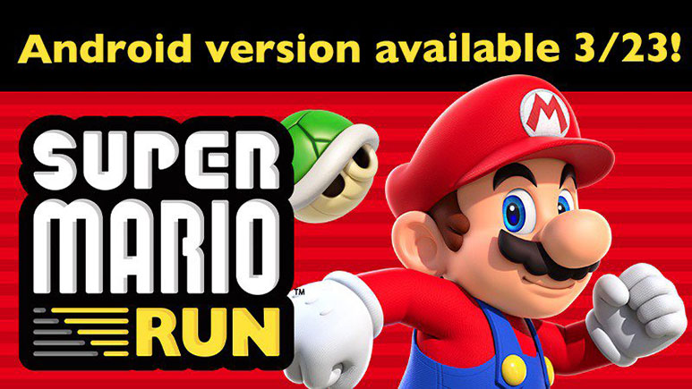 Super Mario Run for Android to be released on 23rd March