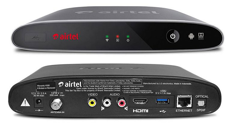 Airtel Internet TV, India's first hybrid DTH service powered by Android TV launched; comes with YouTube, Netflix & more