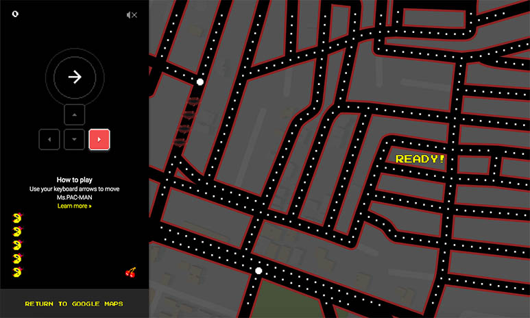 Google adds 'Ms. Pac-Man' game to Google maps as a tribute to April Fool's Day