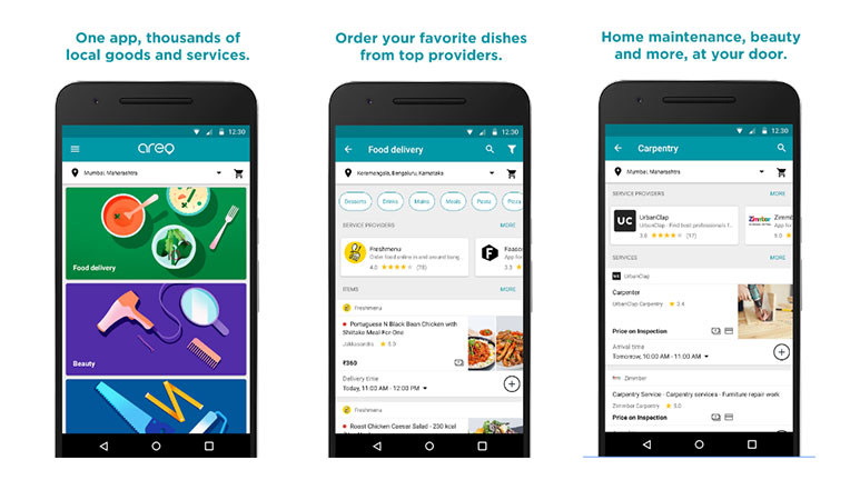 Google's new app 'Areo' launched in India, provides local services for food delivery & home maintenance