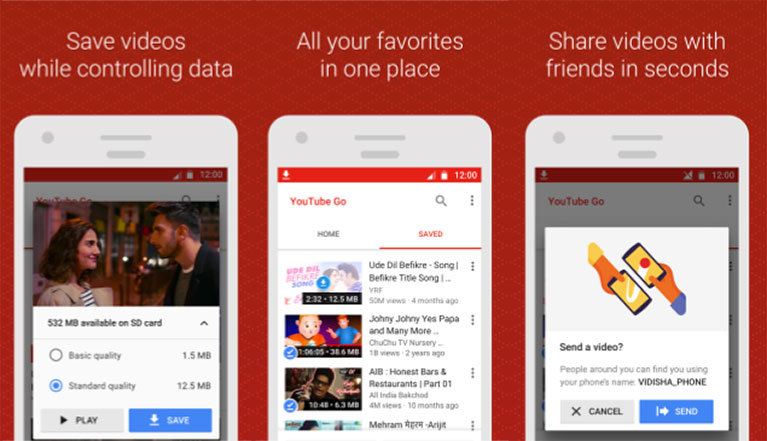 YouTube Go for slow internet speed and better offline experience now available in India