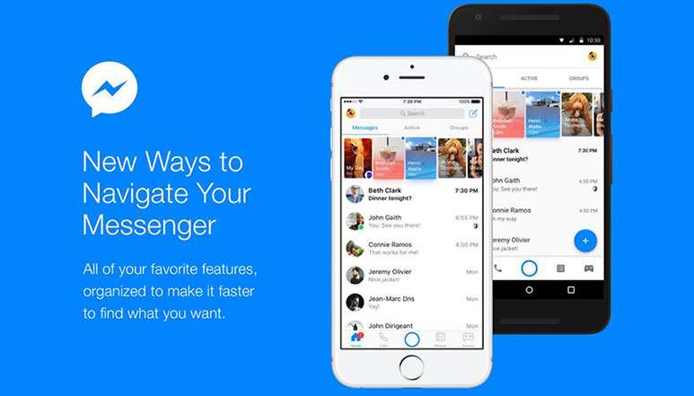 Facebook Messenger gets major visual update to simplify navigation