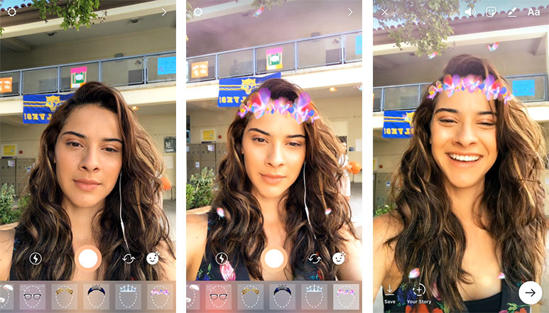 Instagram gets new Snapchat-like face filters, also adds new camera tool along with new hashtag sticker