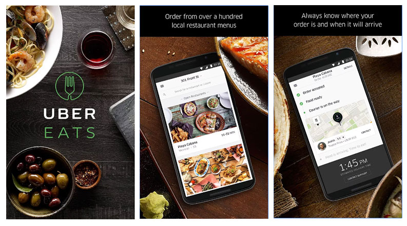 UberEATS, an online food delivery service launched in India starting from Mumbai