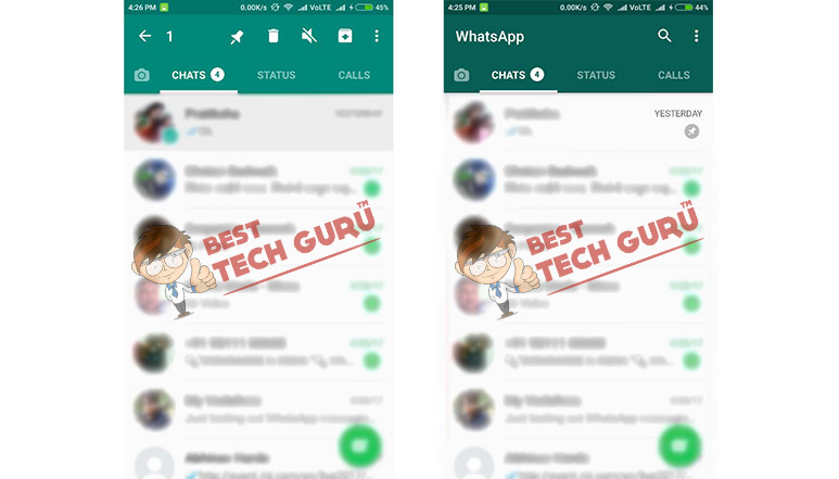 WhatsApp users will now be able to pin their favourite chats on top