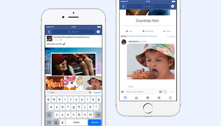 Facebook finally rolls out support for GIFs as a comment
