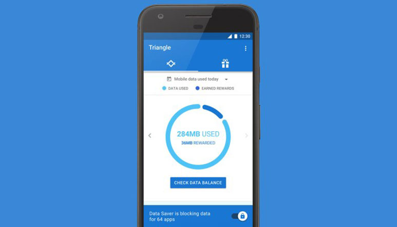 Google's new Triangle app will effectively save mobile data used by individual apps