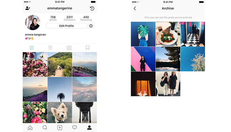 Instagram Archive Feature