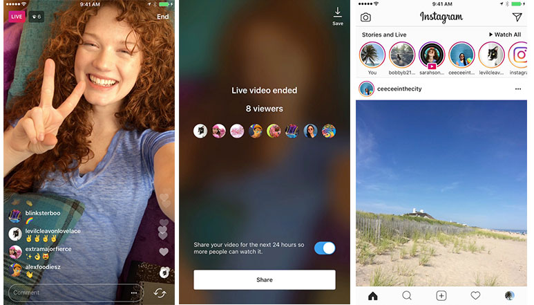 Instagram rolls out Live Video Replays, Stories hit 250 million daily active users