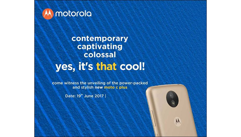 Moto C Plus with 5-inch screen and 4,000 mAh battery to launch on 19th June in India