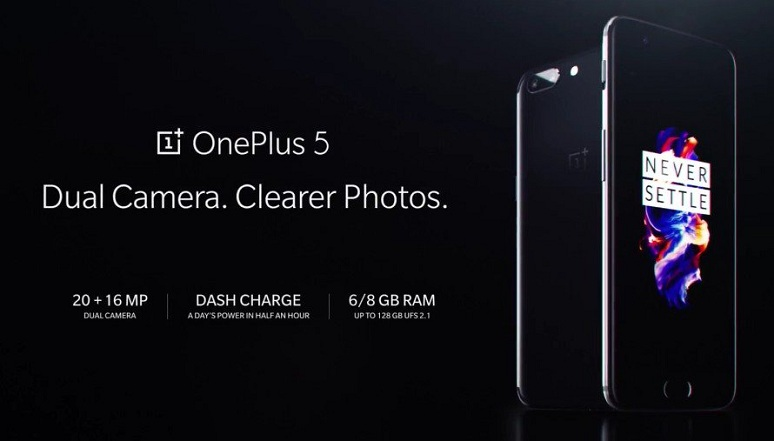 OnePlus 5 with Snapdragon 835, 8 GB RAM and Dual rear camera setup (20+16 MP) launched at $479