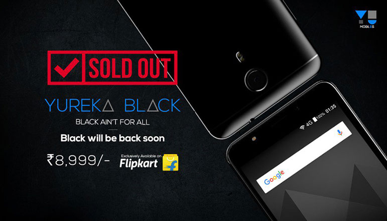 YU Yureka Black first batch sold out, sells at a rate of 80 units per minute on the first day