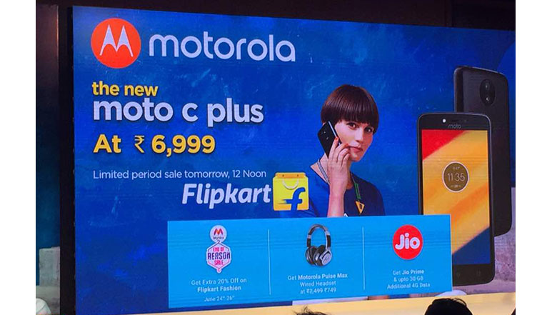 Moto C Plus with 5-inch screen, 8MP camera, Android 7.0 & 4,000 mAh battery launched in India at Rs. 6,999
