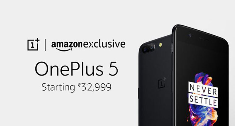 OnePlus 5 now available for open sale in India, exclusively via Amazon