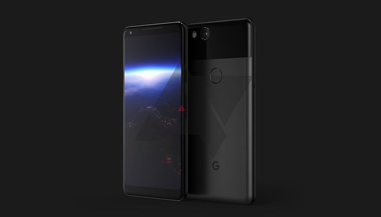 Google Pixel XL 2 render leaked; could sport a 6-inch AMOLED display with narrow bezels and squeezable frame