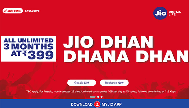 Reliance Jio revises Rs. 309 plan with double benefits and rolls out new Rs. 349 and Rs. 399 plans