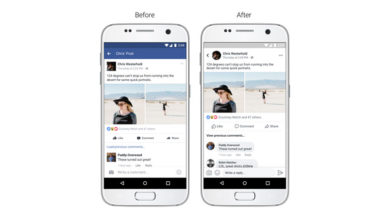 Facebook rolls out slightly upgraded News feed design on its mobile apps
