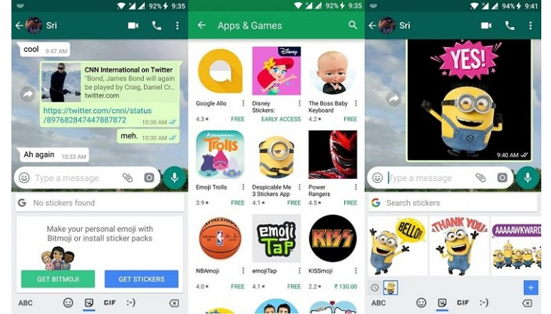 Gboard Beta 6.5 now supports Bitmoji and stickers, also includes some minor changes