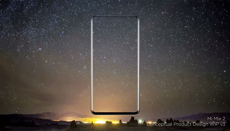 Xiaomi Mi Mix 2 conceptual video shows display design with almost no bezels