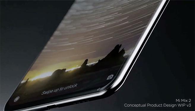 Xiaomi Mi Mix 2 conceptual video shows display design with almost no bezels