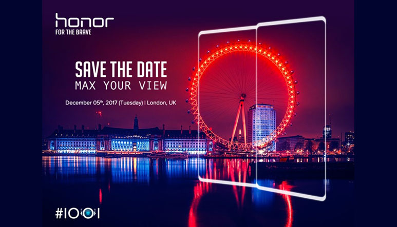Huawei to launch a new bezel less phone on December 5; Honor V10 with 6 GB RAM & Dual cameras expected