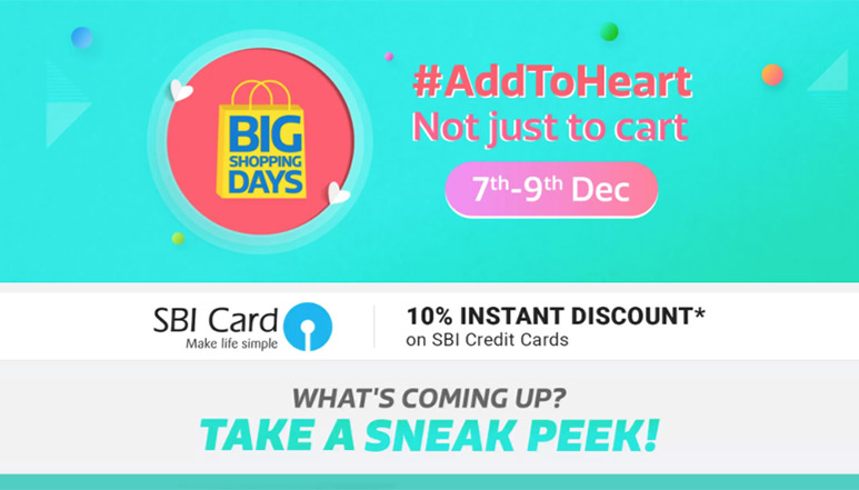 Flipkart's Big Shopping Days Sale begins, here are some of the top offers on Smartphones and TV