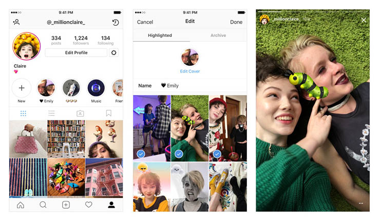 Instagram introduces two new major features 'Stories Highlights' and 'Stories Archive'