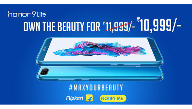 Honor 9 Lite with 5.65 inch FHD+ 18:9 display, Quad cameras, Android 8.0 launched in India starting at Rs. 10,999