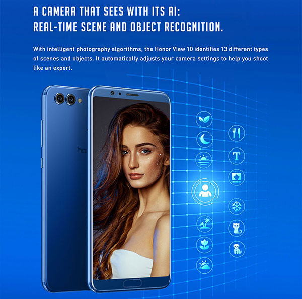Honor View 10 with 5.99 inch 18:9 display, Android 8.0, Dual cameras & AI features to launch on Jan 8