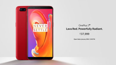 OnePlus 5T Lava Red edition launched in India at Rs. 37,999, to go on open sale from 20th January